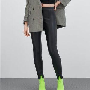 Faux leather leggings! NWT